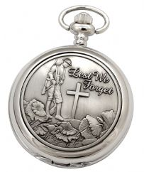 Lest We Forget Mechanical Pocket Watch